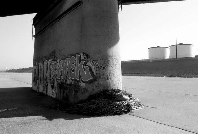 , 'Los Angeles River, Train Bridge & Debris I,' 1998, Wall Space Gallery