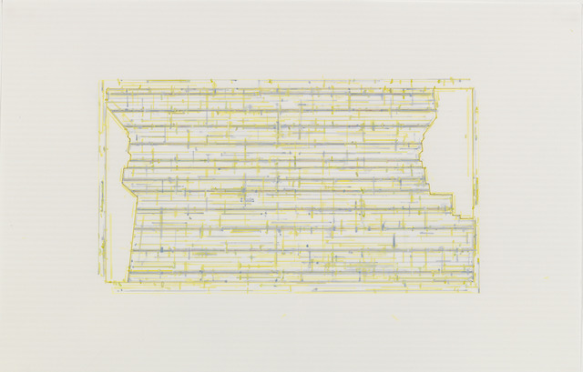 , 'Trace 3: after Threshold, Southeast One [spectrum: yellow],' 2010-2013, Rhona Hoffman Gallery