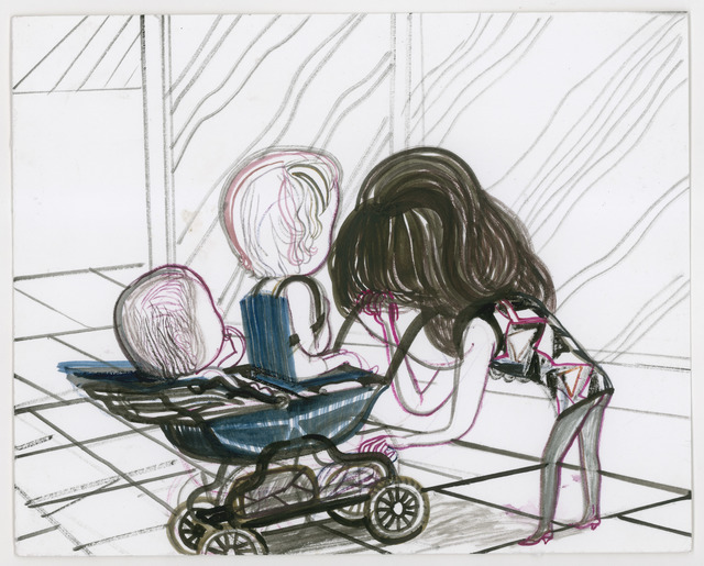 , 'Diana in the Dark Bending over the Pram,' 2011, Galerie Onrust