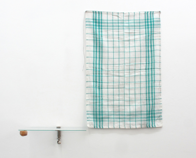 , 'from the series À la poursuite d´un papillon / Sans doute l´horizon était là-haut (Surface de 32 x 24 cm et une trait à deux pliages)',' 2013, Vera Cortês
