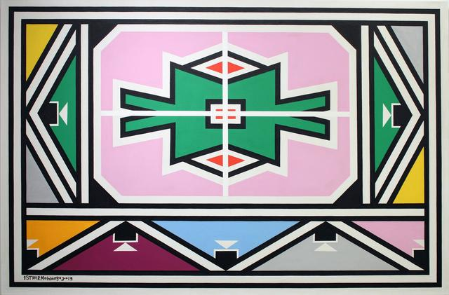 Esther Mahlangu, 'Ndebele Abstract - C001410', 2019, The Melrose Gallery