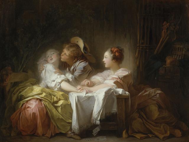 , 'The Stolen Kiss,' 1759-1760, Musée du Luxembourg