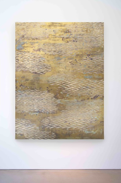 , 'Lemon Gold Waves,' 2016, Morgan Lehman Gallery
