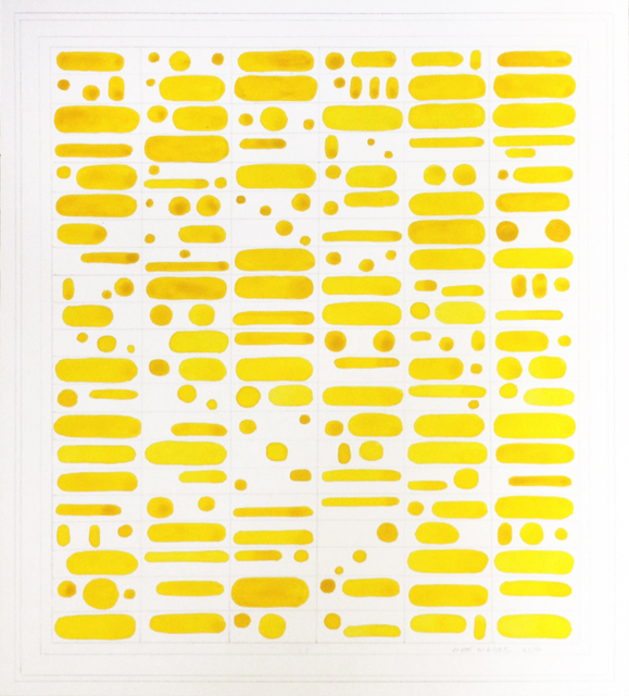 , 'Yellow Grapheme,' 2012, Richard Levy Gallery