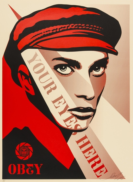 Shepard Fairey, 'Your Eyes Here', 2010, Forum Auctions