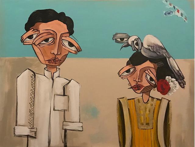 , 'Meeting / لقاء,' 2017, al markhiya gallery
