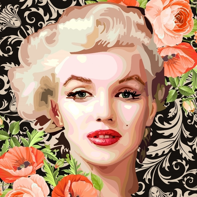 Elisabetta Fantone, 'Marilyn Monroe', 2018, Painting, Acrylic on canvas, Thompson Landry Gallery