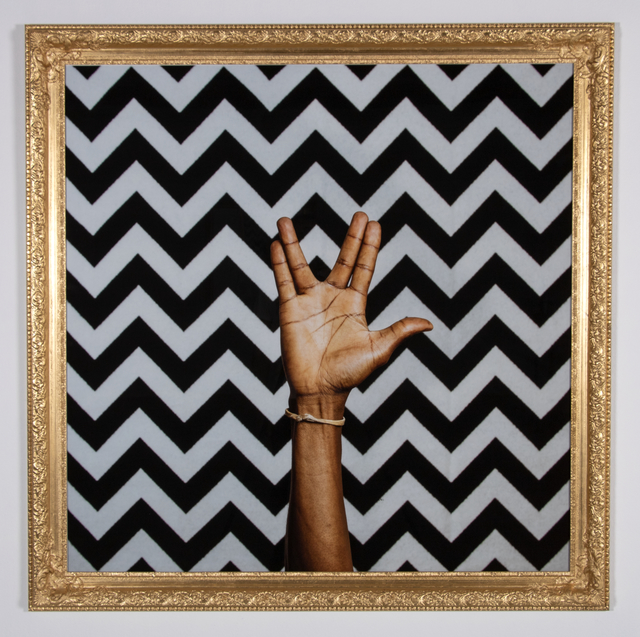 Gerald Machona, 'Live long and prosper', 2018, Photography, Espon Hotpress on Perspex with gold gilded frame, Goodman Gallery
