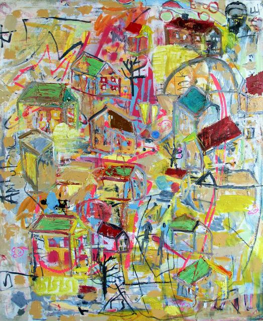 Carl Dimitri, 'Yellow Rocket Behind House Hill', 2020, Tabla Rasa Gallery