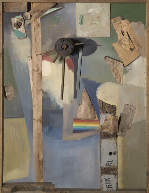 Kurt Schwitters, 'Merzbild mit Regenbogen (Merz Picture With Rainbow)', 1920-1939, Yale University Art Gallery
