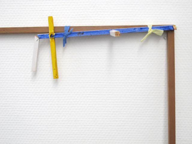 Paul Drissen, 'frame', 2015, Sculpture, Wood, textiles, metal, SEA Foundation