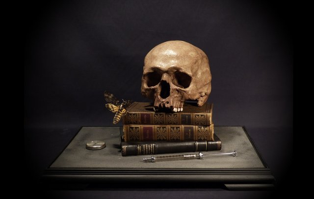, 'Memento Mori with Hawk-Moth and Syringe,' 2014, The Hanbury Collection