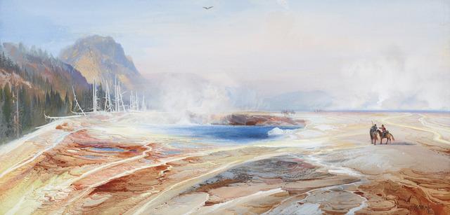 , 'Big Springs in Yellowstone Park ,' 1872, Philadelphia Museum of Art