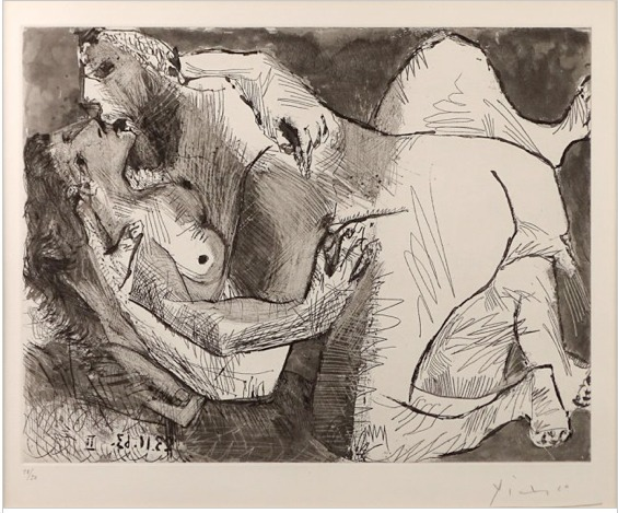 Pablo Picasso, 'Etreinte VII', 1963, Alessandro Berni Gallery