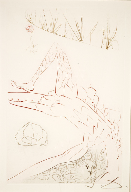 Salvador Dalí, 'Tristan Wounded (Tristan and Iseult, Plate F)', 1970, Martin Lawrence Galleries