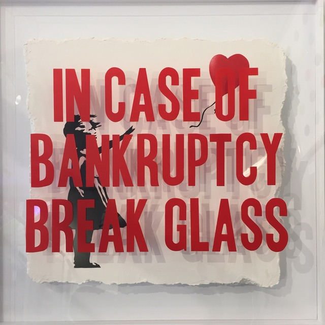 Thirsty Bstrd, 'In Case of Bankruptcy: Girl with Balloon ', 2018, Reem Gallery