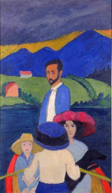 Gabriele Münter Kahnfahrt, 1910 Boating Oil on canvas,125 x 74 cm Milwaukee Art Museum, Gift of Mrs. Harry Lynde Bradley © Gabriele Münter- und Johannes Eichner-Stiftung, Munich / VISDA 2018 Photo: Efraim Lev-er