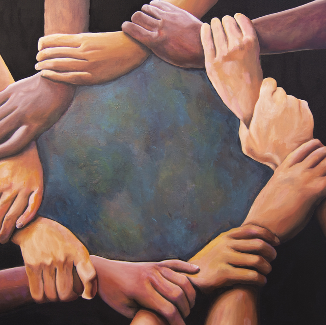 , 'Hands of the World,' 2018, MRG Fine Art