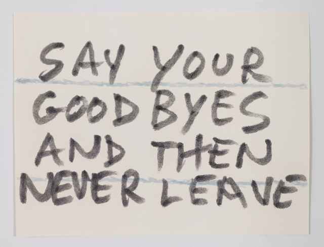 Sean Landers, 'Say Your Goodbyes and Then Never Leave', 2017, Drawing, Collage or other Work on Paper, Graphite and ink on paper, Petzel Gallery