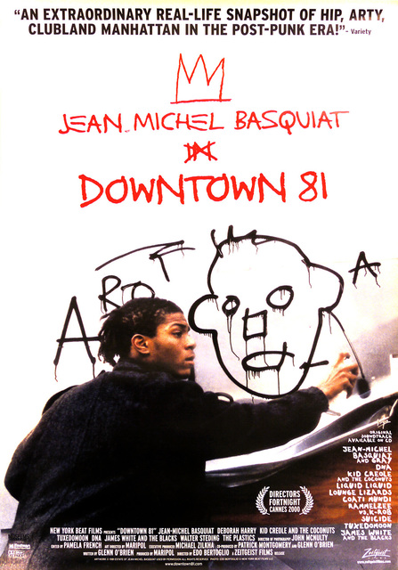 Jean-Michel Basquiat, 'Basquiat Downtown 81 original movie poster ', ca. 2001, Lot 180