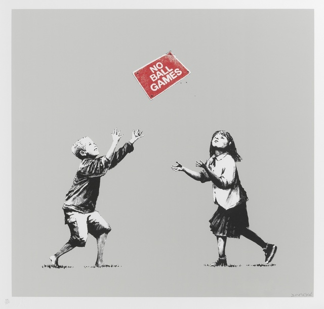 Banksy, 'No Ball Games (Grey)', 2009, Forum Auctions