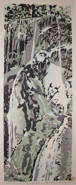 Daryl Howard, 'I noticed my reflection in this water', 2004, Print, Woodblock Print, Ronin Gallery