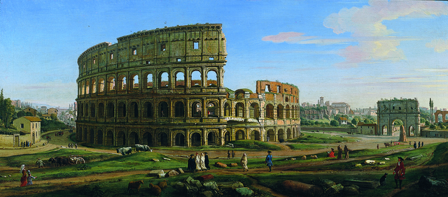 , 'View of the Colosseum and Arch of Constantine from the East,' ca. 1700, Robilant + Voena