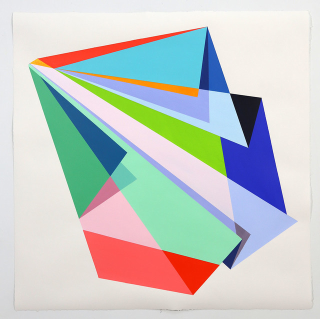 Rachel Hellmann, 'Slip', 2020, Painting, Acrylic on paper, Ellen Miller Gallery