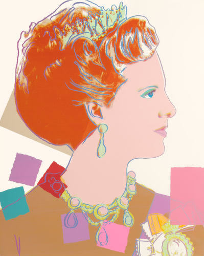 Andy Warhol, 'Queen Margrethe II, pale background (from Reigning Queens)', 1985, Print, Screenprint in colors on Lenox Museum Board, Fine Art Auctions Miami