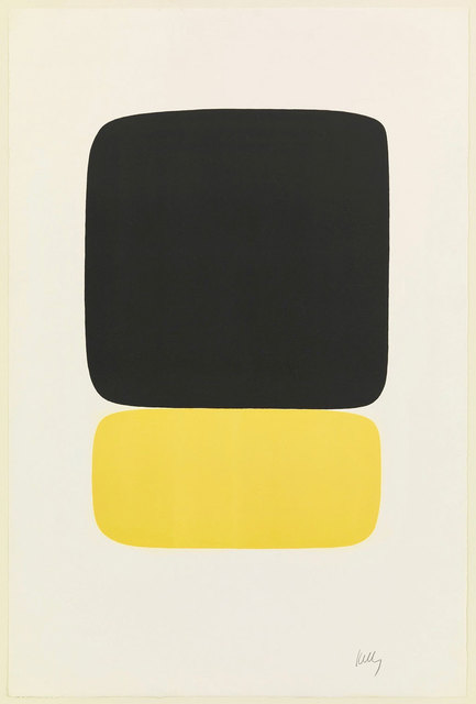 , 'Black over Yellow (Noir sur jaune) from Suite of Twenty-Seven Color Lithograph.,' 1964, Robert Fontaine Gallery