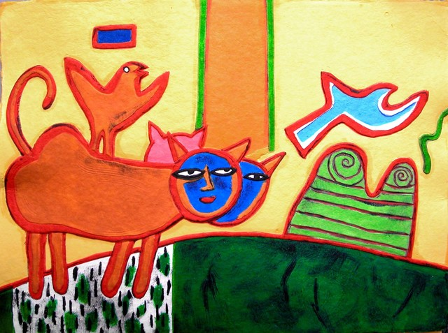 , 'LES CHATS CHAMPETRES ,' , Galerie Vivendi