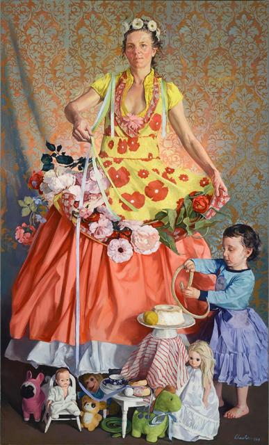 , 'Mother and Child with Snakes and Ribbons,' 2018, Alpha Gallery