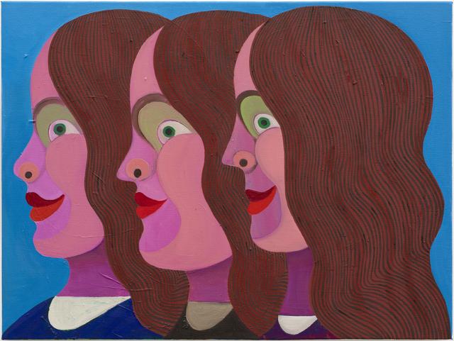 Christoph Ruckhäberle, 'Drei Frauen (three woman in profile)', 2011, Painting, Oil on canvas, Galleri Nicolai Wallner