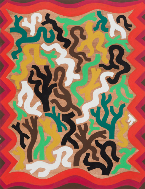 , 'Abstract Rug Design for a Dwelling in the Forest,' 2012, Fleisher/Ollman