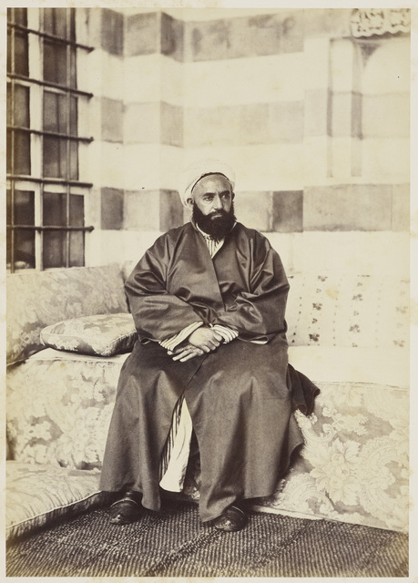 , 'Portrait of 'Abd al-Qadir, Damascus,' 30 April 1862, Royal Collection Trust