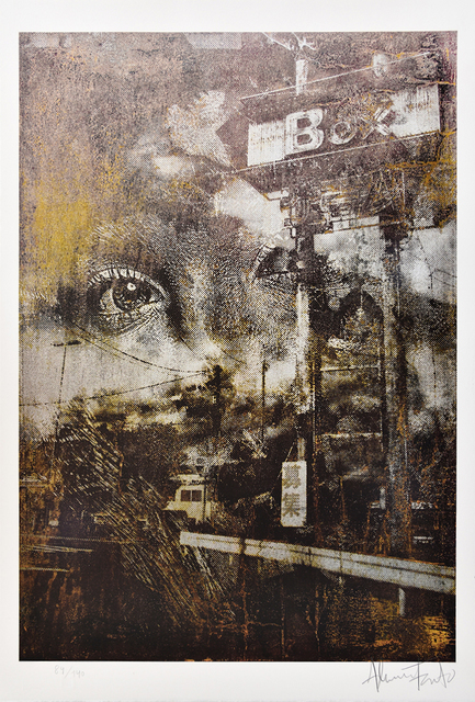 Vhils, 'Glimpse', 2015, PRINTS AND PIECES