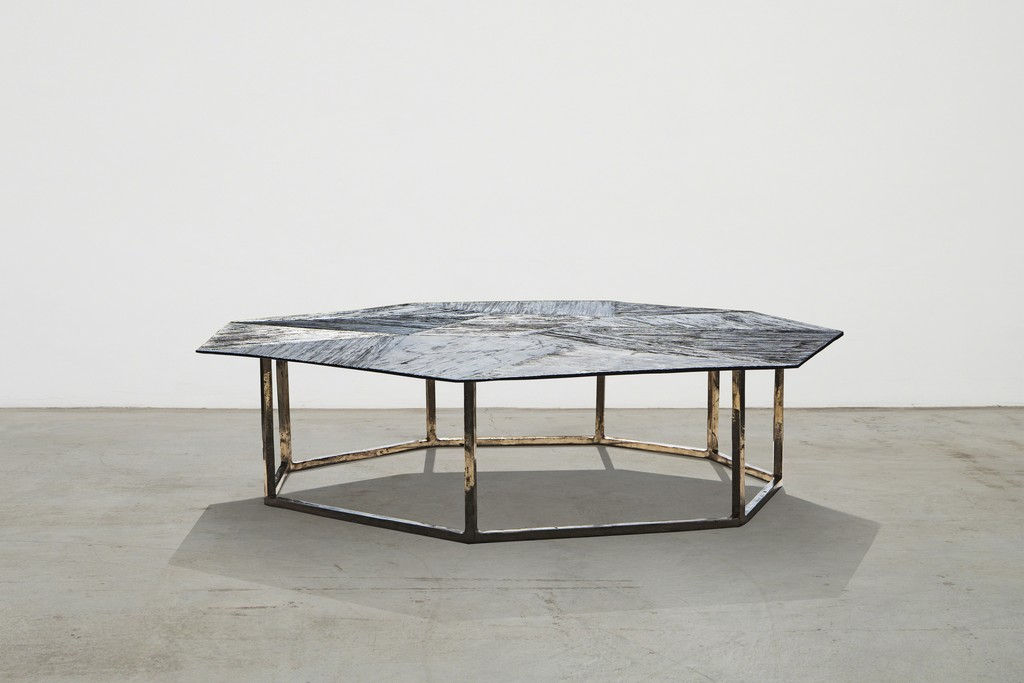 Raggi collection - octagonal low table by Osanna Visconti di Modrone Italy, 2016 Nilufar Edition Custom dimensions upon request Natural bronze  120 x 150 x h 34 cm  47.2 x 59 x h 13.4 in