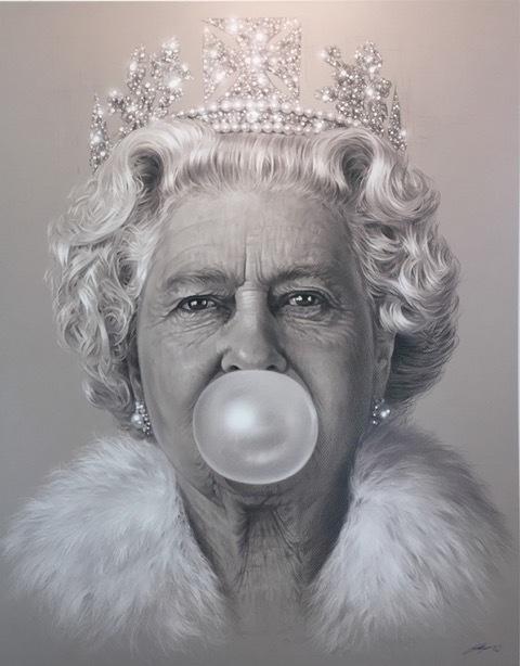 Michael Moebius, 'The Queen Bubblegum', 2016, Print, Pigment print on canvas, Dallas Collectors Club