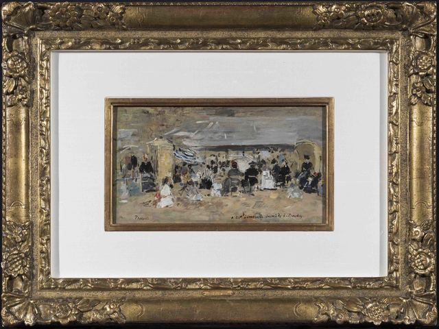 Eugène Boudin, 'Trouville, Scène de plage', 1888-1895, Trinity House Paintings