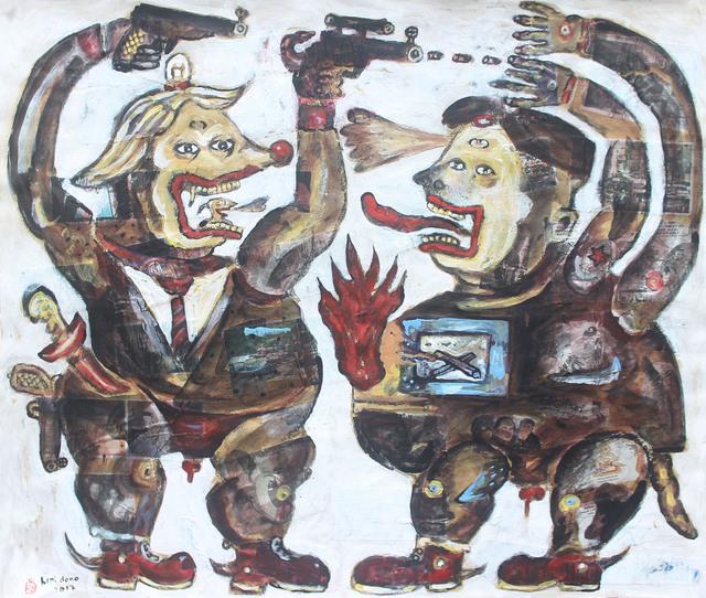 , 'Two Craziest Presidents,' 2017, Mizuma Art Gallery