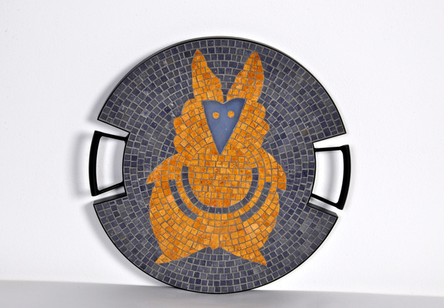 ", 'The Fox tray in hand-set mosaic, from the ""Strange Animals Collection"" by Ugo La Pietra,  Spilimbergo, Italy, 2016.,' 2016, R & Company"