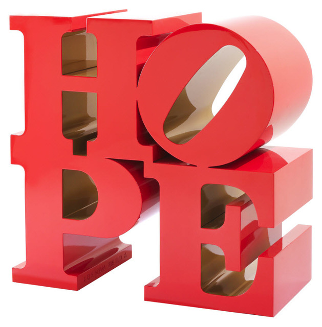Robert Indiana, 'HOPE (red/ gold)', 2009, Woodward Gallery