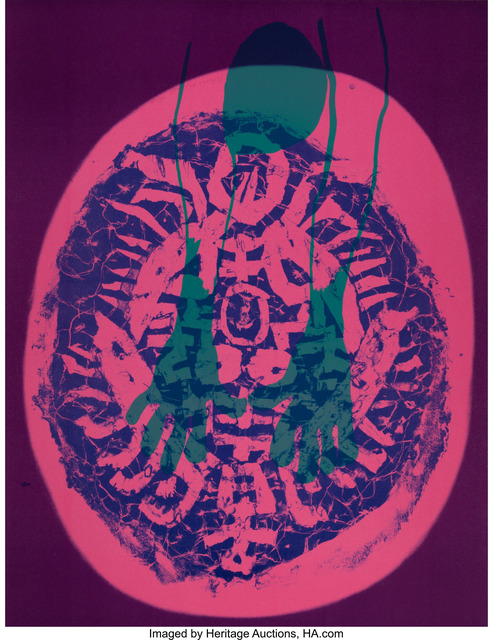 Nam Kwan, 'Human Mask', 1988, Print, Lithograph in colors on paper, Heritage Auctions