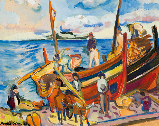 Irma Stern, 'Fishing Boats on the Beach', 1931, Strauss & Co