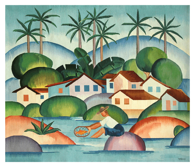 , 'Tapestry Tarsila do Amaral - O Pescador,' 2016, By Kamy
