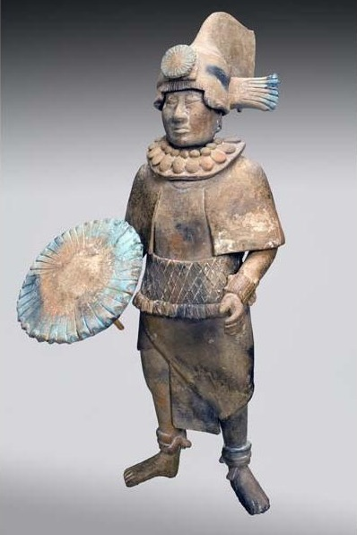 Unknown Artist, 'Standing Noble with Feather Shield', 700-900, Davis Museum