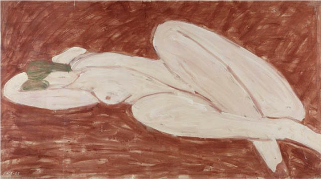 , 'Reclining Nude, Venetian Red Ground (65-10),' 1965, Berry Campbell Gallery