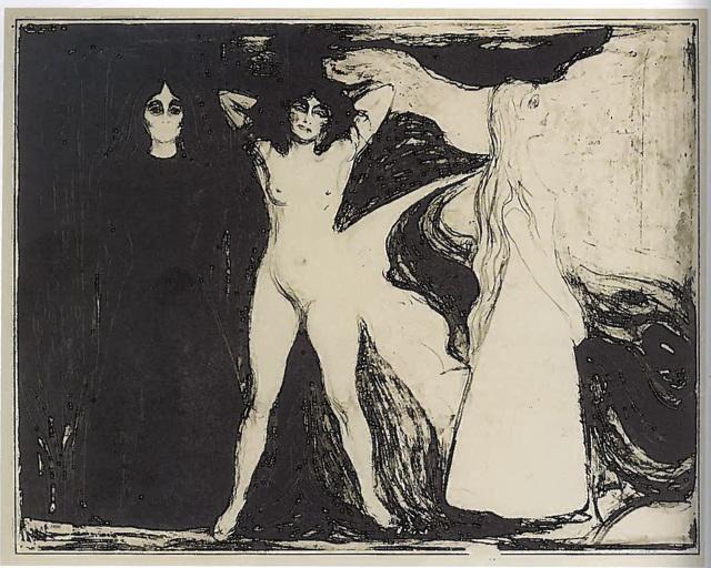 Edvard Munch, 'Das Weib (Woman/Sphinx)', 1899, John Szoke