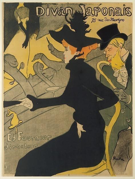 Henri de Toulouse-Lautrec, 'Divan Japonais (Japanese Settee)', 1893, Print, Original lithograph printed in four colors on wove paper, David Benrimon Fine Art