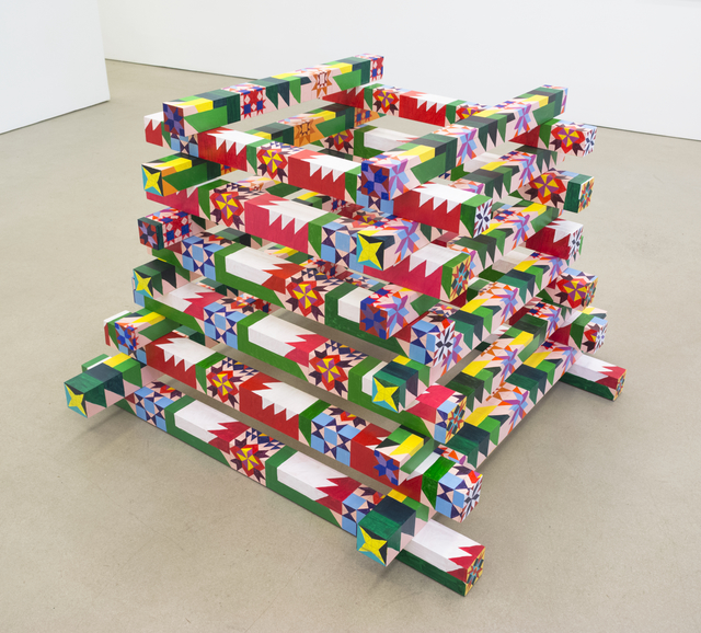 , 'Bonfire Quilt Stack (Modern Flame),' 2018, Morgan Lehman Gallery
